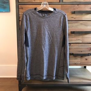 Men's Lululemon Run Long Sleeve in Gray, Medium